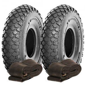 Pair of 3.00-4 Value Diamond Tyre & Tube