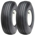 Pair of 4.00-8 Supreme HF215 Tyres & Tubes